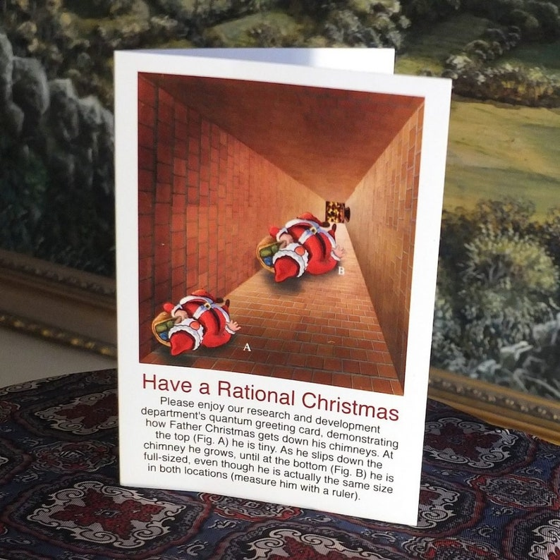 Have a Rational Christmas Optical Illusion Card image 0