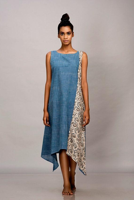 Loose linen summer dress,dots print cotton dress,long shift dress,maxi dress,plus size clothing,custom