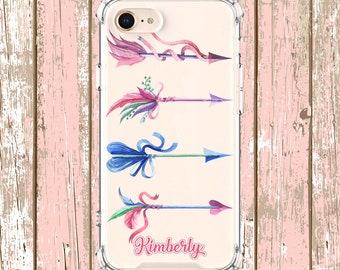Watercolor Arrow Ribbons, iPhone 6, 6 plus, 7, 7 plus, 8, 8 Plus, X, Xs, Xs MAX, XR, Samsung Galaxy S8, S8 Plus, S9, s9 plus, Note 8, Note 9