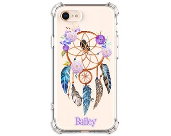Purple Dream Catcher Custom Case, iPhone 7, 7 plus, 8, 8 Plus, X,  Xs MAX, XR,  Galaxy S8, S8 Plus, S9, s9 plus, Note 8, Note 9