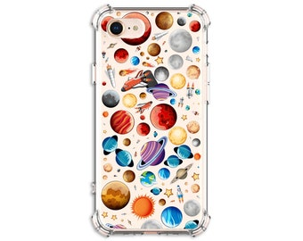Galaxy Planets Phone Case, iPhone 11, 11 pro, 11 pro Max, 8, 8 Plus, X, Xs MAX, XR, Galaxy S8, S8 Plus, S9, s9 plus, Note 8, Note 9