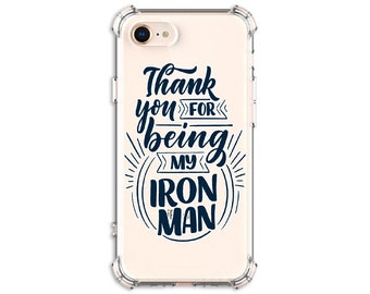 Iron Man Dad, Father's Day Phone case, iPhone se, 7 plus, 8 Plus, X, Xs MAX, XR, 11, 11 pro, Galaxy S10, S10 Plus, S9, s9 plus, Note 9