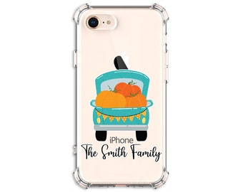 FALL Pumpkin Truck, Personalized Autumn Truck and Pumpkins Case, iPhone 8, 8 Plus, Xs MAX, XR, 11, Galaxy S10, S9, s9 plus, Note 8, Note 9