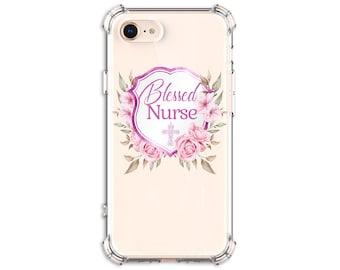 Blessed Nurse Cross Gift iPhone 6, 6 plus, 7, 7 plus, 8, 8Plus, X, Xs, Xs MAX, XR, Samsung Galaxy S8, S8 Plus, S9, s9 plus, Note 8, Note 9