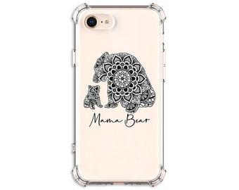 Mama Bear Case, Mandala Mom Gift, iPhone 7, 7 plus, 8, 8 Plus, X, Xs, Xs MAX, XR, 11, Galaxy S8, S8 Plus, S9, s9 plus, Note 8, Note 9