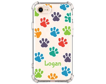 Rainbow Dog Phone Case, iPhone SE, 7 plus, 8, 8 Plus, X, Xs MAX, XR, 11 pro, 11 pro max, Galaxy S9, s9 plus, Note 8, Note 9, s20 ultra, s20