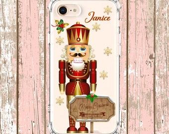 Christmas Nutcracker, iPhone 6, 6 plus, 7, 7 plus, 8, 8 Plus, X, Xs, Xs MAX, XR, Samsung Galaxy S8, S8 Plus, S9, s9 plus, Note 8, Note 9