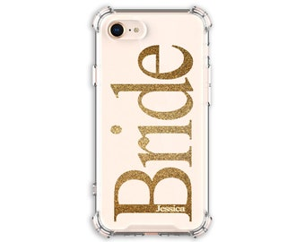 Bride Personalized Case, Bridal gift, iPhone 7, 7 plus, 8, 8 Plus, X, Xs, Xs MAX, XR, Galaxy S8, S8 Plus, S9, s9 plus, Note 8, Note 9