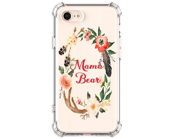Mama Bear iPhone Case,iPhone 6, 6 plus, 7, 7 plus, 8, 8 Plus, X, Xs, Xs MAX, XR, Galaxy S8, S8 Plus, S9, s9 plus, Note 8, Note 9
