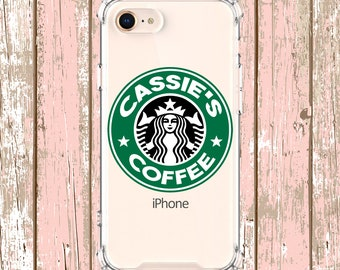 Personalized Starbucks Case, iPhone se 6, 6 plus, 7, 7 plus, 8, 8 Plus, X, Xs, Xs MAX, XR, Galaxy S10, S10 Plus, S9, s9 plus, Note 8, Note 9