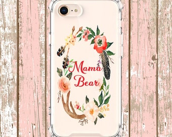 Mama Bear iPhone Case,iPhone 6, 6 plus, 7, 7 plus, 8, 8 Plus, X, Xs, Xs MAX, XR, Galaxy S8, S8 Plus, S9, s9 plus, Note 8, Note 9