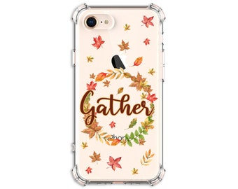 Fall Wreath, Gather Wreath Phone case, iPhone 11, 11 Pro, 8, 8 Plus, X, Xs MAX, XR, Samsung Galaxy S8, S8 Plus, S9, s9 plus, Note 8, Note 9
