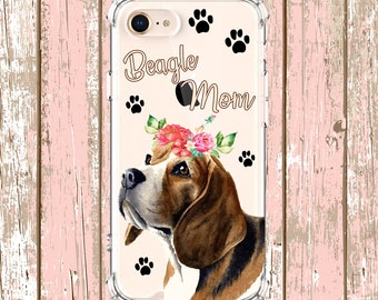 Beagle Mom Case, Dog Mom iPhone 6, 6 plus, 7, 7 plus, 8, 8 Plus, X, Xs, Xs MAX, XR, Samsung Galaxy S8, S8 Plus, S9, s9 plus, Note 8, Note 9