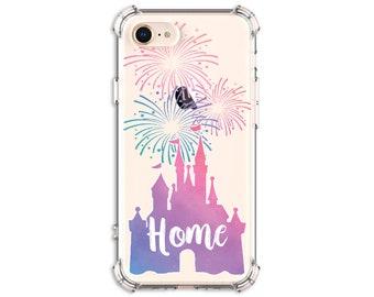 Watercolor Castle iPhone Case, iPhone SE, 6 plus, 7, 7 plus, 8, 8 Plus, X, Xs, Xs MAX, XR, Galaxy S8, S10 Plus, S9, s9 plus, Note 8, Note 9