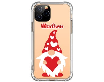 Valentine Gnome with heart iPhone Case, iPhone 12, 8 Plus, X,  Xs MAX, XR, iPhone 11, iPhone 12 pro, Galaxy S20, s9 plus, Note 20, Note 9