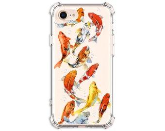 Pretty Koi Fish Phone Case, iPhone 6, 7, 7 plus, 8, 8 Plus, X, Xs, Xs MAX, XR, Samsung Galaxy S8, S8 Plus, S9, s9 plus, Note 8, Note 9