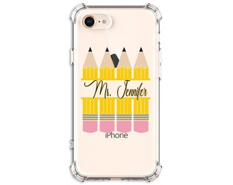 Teacher Pencil gift, Teacher Gift, Back to school, iPhone 8, 8 Plus, Xs MAX, XR, 11, 12, 12 pro, Galaxy S20FE, S20, s9 plus, Note 8, Note 9