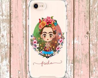 Frida Kahlo Phone Case, iphone 5, iphone 6, iPhone 6 plus, iPhone 7, iPhone 7 plus, iPhone Xs, iPhone XR, iPhone xs max, iPhone X, Galaxy S9