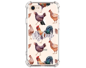 Chicken Lover Phone Case, iPhone 7, 7 plus, 8, 8 Plus, X, Xs MAX, XR, iPhone 11, Galaxy S10, S10 Plus, S9, s9 plus, Note 8, Note 9, 10