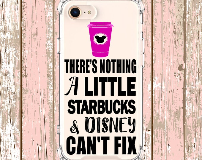 Featured listing image: Starbucks Coffee and Disney Quote, iphone 5, iPhone 7, iPhone 8 plus, iPhone Xs, iPhone XR, iPhone xs max, iPhone X, Galaxy S9