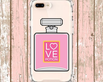 Love Poition Perfume Bottle Case, iPhone 6, 6 plus, 7, 8, 8 Plus, X, Xs, Xs MAX, XR, Galaxy S10, S8 Plus, S9, s9 plus, Note 8, Note 9 gift