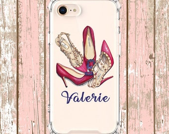 Personalized Shoe Lover, iPhone 6, 6 plus, 7, 7 plus, 8, 8 Plus, X, Xs, Xs MAX, XR, Galaxy S8, S8 Plus, S9, s9 plus, Note 8, Note 9