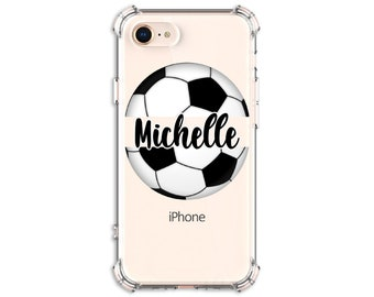 Soccer Ball Personalized Case, iPhone SE, 6, 6 plus, 7, 7 plus, 8, 8 Plus, X, Xs, Xs MAX, XR Galaxy S8, S8 Plus, S9, s9 plus, Note 8, Note 9