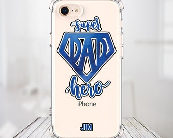 Custom Super DAD Father's day case iPhone 7, 7 plus, 8, 8 Plus, X,  Xs MAX, XR,  Galaxy S10, S10 Plus, S9, s9 plus, Note 8, Note 9