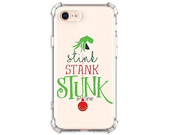 Stink Stank Stunk, Grinchmas gift, Grinch Christmas, iPhone 12, 12 pro, X, Xs MAX, XR, iPhone 11, Galaxy S10 Plus, S20 FE, S20, Note 9, 10