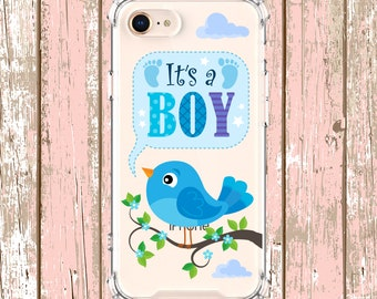 It's a Boy baby shower gift, iPhone 6, 6 plus, 7, 7 plus, 8, 8 Plus, X, Xs MAX, XR, Samsung Galaxy S9, s9 plus, Note 8, Note 9, S10, S10e