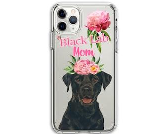 Heavy Duty Black Lab Mom Clear Hybrid Case, iPhone 8, 8 Plus, X, Xs MAX, XR, 11, 11 Pro, 11 Pro Max, Galaxy A20 A30 LG Stylo 5, Aristo 3