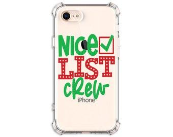 Santa's Nice List Crew Phone Case, iPhone 11, 11 pro, 11 pro Max, 8, 8 Plus, X, Xs MAX, XR, Galaxy S8, S8 Plus, S9, s9 plus, Note 8, Note 9