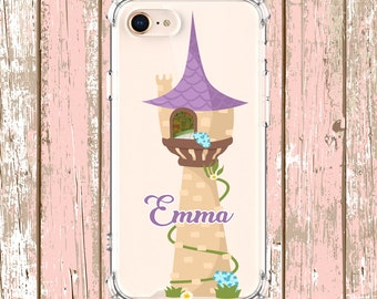 Rapunzel Tower Case w your Name, iPhone 6, 6 plus, 7, 7 plus, 8, 8 Plus, X, Xs, Xs MAX, XR, Galaxy S8, S8 Plus, S9, s9 plus, Note 8, Note 9