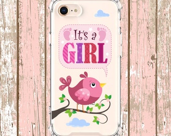 It's a girl baby shower gift, iPhone 6, 6 plus, 7, 7 plus, 8, 8 Plus, X, Xs MAX, XR, Samsung Galaxy S9, s9 plus, Note 8, Note 9, S10, S10e