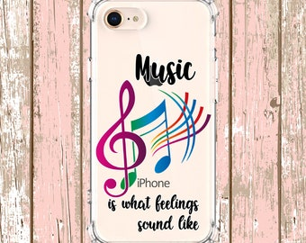 Music Note Quote Case, iPhone 6, 6 plus, 7, 7 plus, 8, 8 Plus, X, Xs, Xs MAX, XR, Samsung Galaxy S10 Plus, S9, s9 plus, Note 8, Note 9