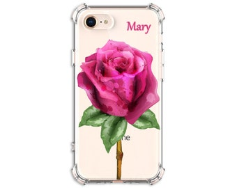 Pink Watercolor Rose Gift Case, iPhone 6, 6 plus, 7, 7 plus, 8, 8 Plus, X,  Xs MAX, XR, Galaxy S10, S8 Plus, S9, s9 plus, Note 8, Note 9