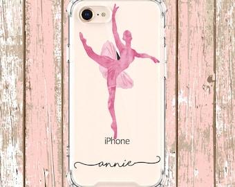 Watercolor Ballerina Case, iPhone 6, 6 plus, 7, 7 plus, 8, 8 Plus, X, Xs, Xs MAX, XR, Galaxy S8, S8 Plus, S9, s9 plus, Note 8, Note 9