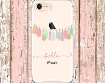 Pretty Tassle Name Case, iPhone 6, 6 plus, 7, 7 plus, 8, 8 Plus, X, Xs, Xs MAX, XR, Samsung Galaxy S8, S8 Plus, S9, s9 plus, Note 8, Note 9