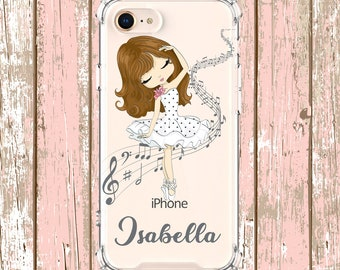 Ballerina Dance MOM Case, iPhone 6, 6 plus, 7, 7 plus, 8, 8 Plus, X, Xs, Xs MAX, XR, Samsung Galaxy S8, S8 Plus, S9, s9 plus, Note 8, Note 9