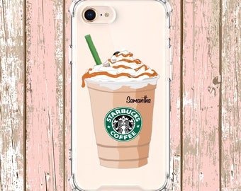 Personalized Starbucks Frap, iPhone se 6, 6 plus, 7, 7 plus, 8, 8 Plus, X, Xs, Xs MAX, XR, Galaxy S8, S8 Plus, S9, s9 plus, Note 8, Note 9