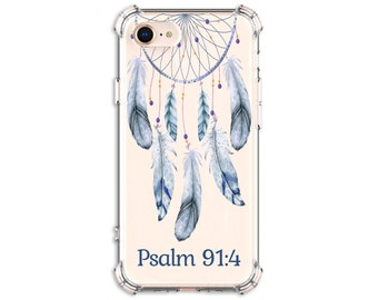 Psalm 91:4 He will cover you with his feathers, iPhone 8, 8 Plus, X, 11, Xs MAX, XR, Galaxy S8, S8 Plus, S9, s9 plus, Note 8, Note 9