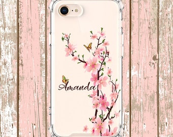 Cute Cherry Blossom phone case, iPhone 6, 6 plus, 7, 7 plus, 8, 8 Plus, X, Xs MAX, XR, Galaxy S8, S8 Plus, S9, s10 plus, Note 8, Note 9