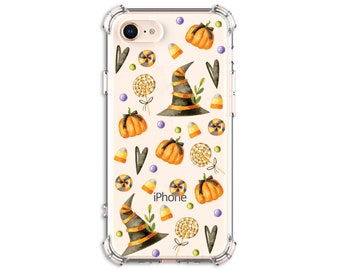 Halloween Witch Pumpkin Phone Case, iPhone 8, 8 Plus, X, Xs MAX, XR, iphone 11, Galaxy S10, S8 Plus, S9, s9 plus, Note 8, Note 9, Note 10