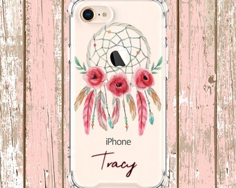 Watercolor Dreamcatcher Case, iPhone 6, 6 plus, 7, 7 plus, 8, 8 Plus, X,  Xs MAX, XR, Galaxy S8, S8 Plus, S9, s9 plus, Note 8, Note 9