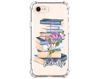 Personalized Book Lover Case, iPhone 11, 6, 6 plus, 7, 7 plus, 8, 8 Plus, X,  Xs MAX, XR, Galaxy S8, S8 Plus, S9, s9 plus, Note 8, Note 9
