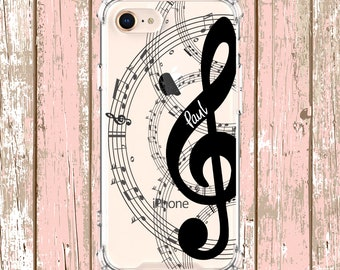Personalized Music Notes, iPhone 6, 6 plus, 7, 7 plus, 8, 8 Plus, X, Xs, Xs MAX, XR, Samsung Galaxy S8, S8 Plus, S9, s9 plus, Note 8, Note 9
