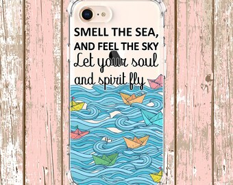 Sail Boat Quote Phone Case Gift, iphone 5, iPhone 7, iPhone 8 plus, iPhone Xs, iPhone XR, iPhone xs max, iPhone X, Galaxy S9, Galaxy S10