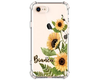 Sunflower, Personalized Autumn Sunflower Case, iPhone 8, 8 Plus, Xs MAX, XR, 11, Galaxy S10, S8 Plus, S9, s9 plus, Note 20, Note 8, Note 9