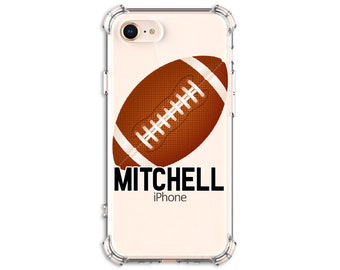Football Personalized Phone Case, iPhone 6, 6 plus, 7, 7 plus, 8, 8 Plus, X, Xs, Xs MAX, XR, Galaxy S8, S8 Plus, S9, s9 plus, Note 8, Note 9