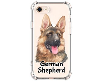 German Shepherd Mom Dad Gift Case, iPhone 8, 8 Plus, X, Xs MAX, XR, 11, 11 pro, Galaxy S8, S8 Plus, S9, s9 plus, Note 8, Note 9, Note 10